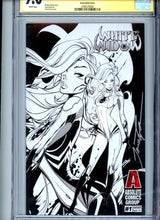 Load image into Gallery viewer, White Widow #1 - Paul Green Sketch Cover (Very Limited!) CGC 9.0 - Signed Tyndall