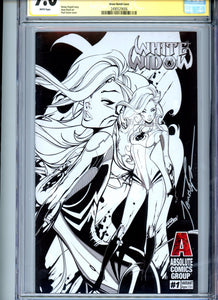 White Widow #1 - Paul Green Sketch Cover (Very Limited!) CGC 9.0 - Signed Tyndall