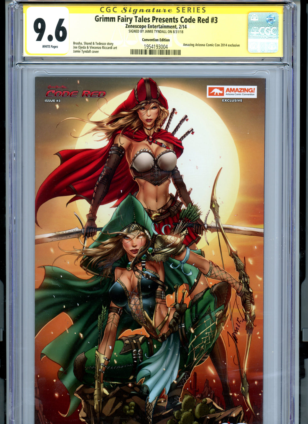 Grimm Fairy Tales Code Red #3 - Signed by Jamie Tyndall - CGC 9.6