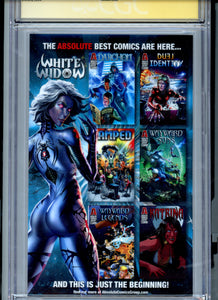 White Widow #1 - ECCC Convention Edition - Low Print Run rare - CGC 9.8 - Signed Tyndall
