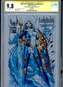 Lady Death:  Nightmare Symphony #1 CGC 9.8 Metal Edition signed by Jamie Tyndall