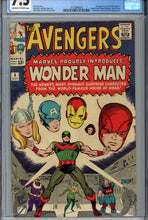 Load image into Gallery viewer, Avengers #9 CGC 7.5 1st Wonder Man