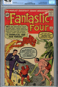 Fantastic Four #6 CGC 4.0 1st Marvel Villain Team-up