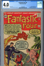 Load image into Gallery viewer, Fantastic Four #6 CGC 4.0 1st Marvel Villain Team-up