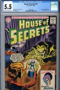 House of Secrets #61 CGC 5.5 1st Eclipso
