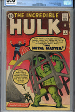 Load image into Gallery viewer, The Incredible Hulk #6 CGC 3.0 1st Metal Master