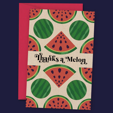 Thanks a Melon – Thank You Card