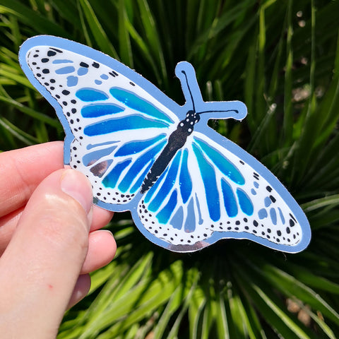 Magic Butterfly Sticker – Silver