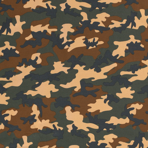 Khaki Camouflage Cotton Jersey Fabric-Adam Ross Fabrics
