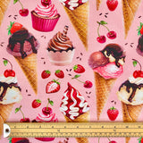 Ice Cream Organic Cotton Jersey Fabric