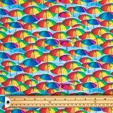 Multicolour Umbrellas Cotton Fabric - Little Johnny-Adam Ross Fabrics