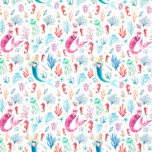 Mermaid Cotton Fabric - John Louden-Adam Ross Fabrics