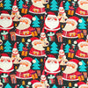 Christmas Themed Organic Cotton Jersey Fabric