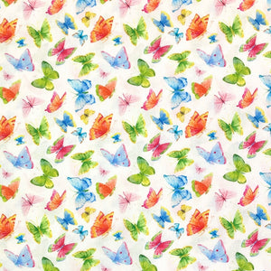 Colourful Butterflies Cotton Fabric - John Louden-Adam Ross Fabrics