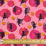Pink Fairy Cotton Jersey Fabric-Adam Ross Fabrics