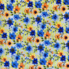 Blue Floral Cotton Fabric-Adam Ross Fabrics