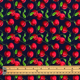Cherries Cotton Jersey Fabric-Adam Ross Fabrics