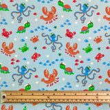 Ocean Animals Cotton Jersey Fabric-Adam Ross Fabrics