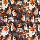 Foxes Cotton Jersey Fabric-Adam Ross Fabrics