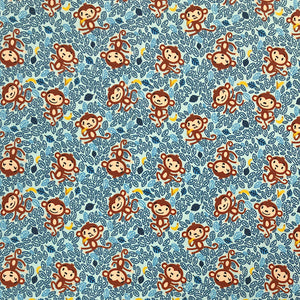 Cheeky Monkeys Cotton Jersey Fabric-Adam Ross Fabrics