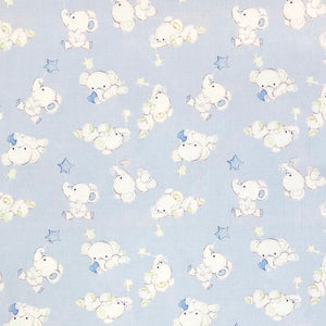 Blue Elephant Cotton Fabric - John Louden-Adam Ross Fabrics