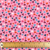 Pink Hearts Cotton Jersey Fabric