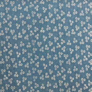 Daisies Chambray Denim Fabric-Adam Ross Fabrics