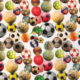 Favourite Footballs Cotton Jersey Fabric-Adam Ross Fabrics