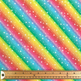 Rainbow Stripes & Stars Cotton Fabric - Little Johnny-Adam Ross Fabrics