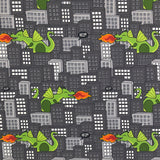 Green Dragon Cotton Jersey Fabric