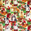 Christmas Dogs Cotton Fabric