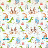 Animals on Wheels Cotton Fabric - John Louden-Adam Ross Fabrics