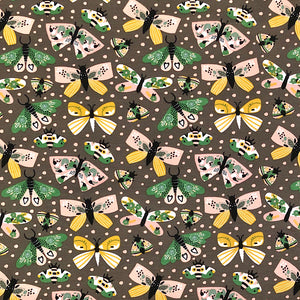 Butterflies Cotton Jersey Fabric-Adam Ross Fabrics