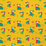 Yellow Toucan Cotton Jersey Fabric-Adam Ross Fabrics