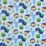 Knight & Dragon Cotton Jersey Fabric-Adam Ross Fabrics