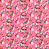 Pink Floral Tiger Cotton Jersey Fabric-Adam Ross Fabrics