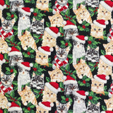Christmas Cats Cotton Fabric