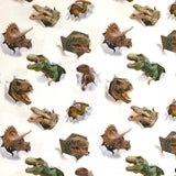 Dinosaur Faces Cotton Jersey Fabric-Adam Ross Fabrics