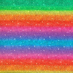Rainbow Glitter Look Cotton Fabric - Little Johnny-Adam Ross Fabrics