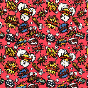 Comic Book Cotton Jersey Fabric-Adam Ross Fabrics