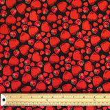 Hearts & Strawberries Cotton Canvas Fabric