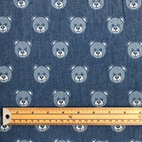 Teddy Bear Chambray Denim Fabric-Adam Ross Fabrics