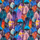 Colourful Feathers Organic Cotton Jersey Fabric