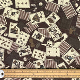 Playing Cards Cotton Canvas Fabric