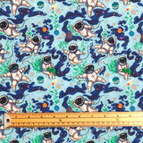 Spaceman Cotton Fabric - Little Johnny-Adam Ross Fabrics