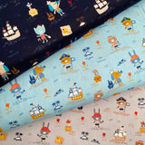 Pirates Organic Cotton Poplin Fabric