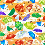 Umbrellas Cotton Canvas Fabric