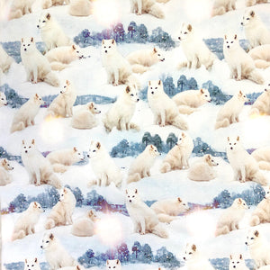Arctic Foxes Cotton Jersey Fabric-Adam Ross Fabrics
