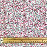 Mini Pink Flowers Cotton Jersey Fabric-Adam Ross Fabrics