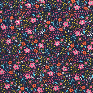 Multi Floral Cotton Jersey Fabric-Adam Ross Fabrics